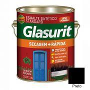 TINTA GLASURIT ESMALTE BRILHANTE PRETO 3,6L