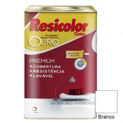 TINTA RESICOLOR ACRILICO FOSCO OURO BRANCO 18L