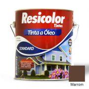TINTA RESICOLOR ÓLEO BRILHANTE MARROM 900ML 4010 T4