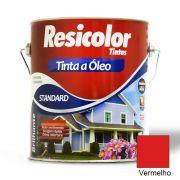 TINTA RESICOLOR ÓLEO BRILHANTE VERMELHO 900ML