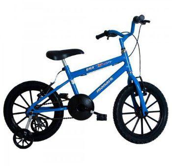 BICICLETA MONARK BMX ARO 16 AZUL/PRETO