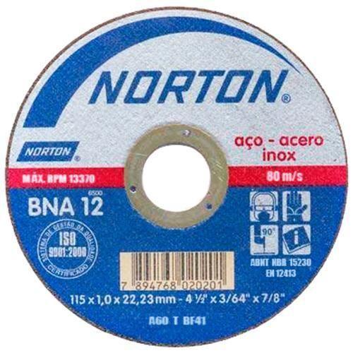 DISCO CORTE P/ FERRO CERAM INOX 300X3X19,05 NORTON