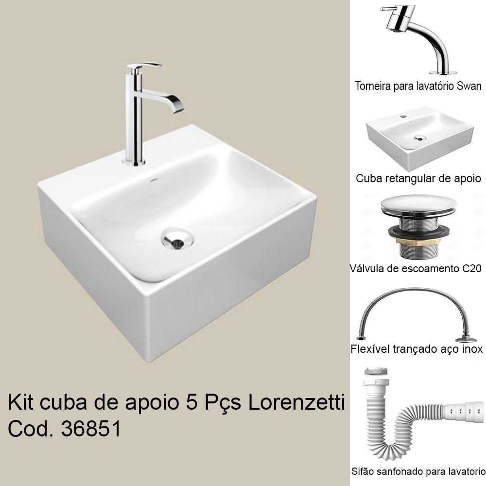 KIT CUBA APOIO C/ TORN.QUADR./BR SA - 01 LORENZETI (5 PC)