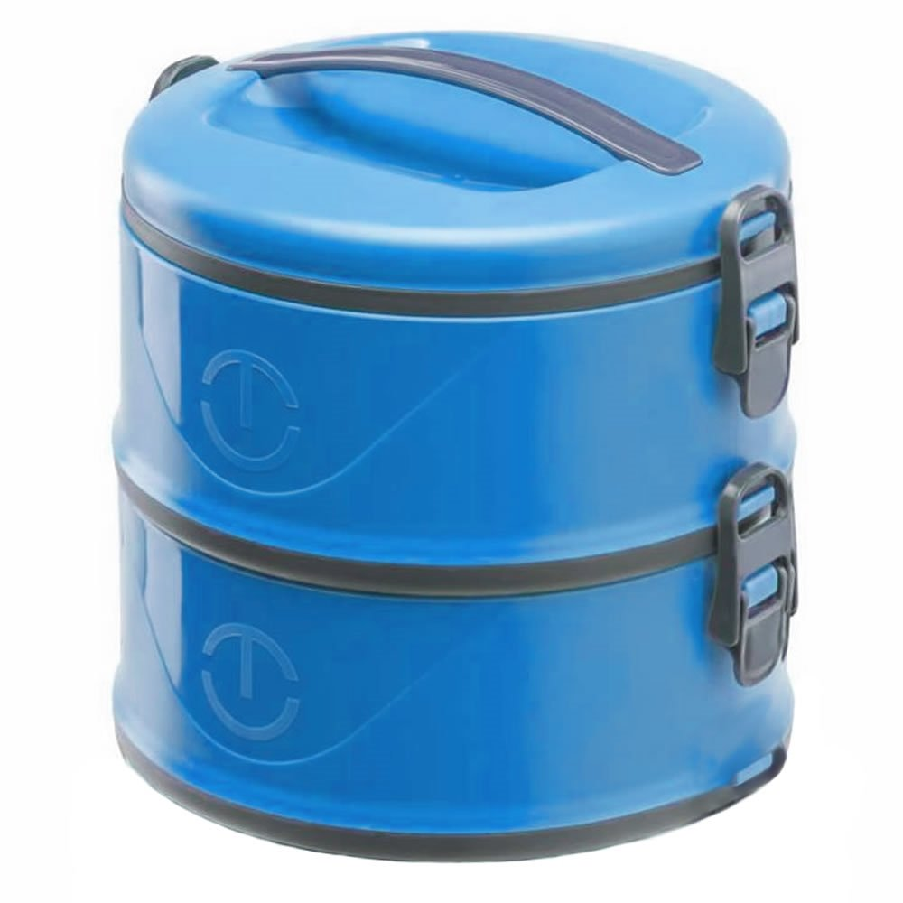 Marmita Térmica Milão Dupla Unitermi 2x 1.5 Litros Azul