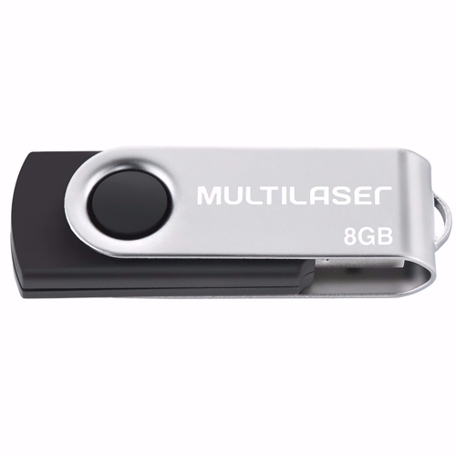 PENDRIVE MULTILASER 8GB PD587