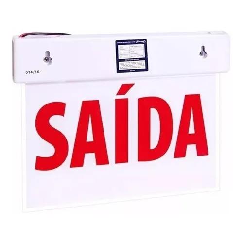 PLACA SINALIZ.LED SAIDA SIMPLES MP30 SC