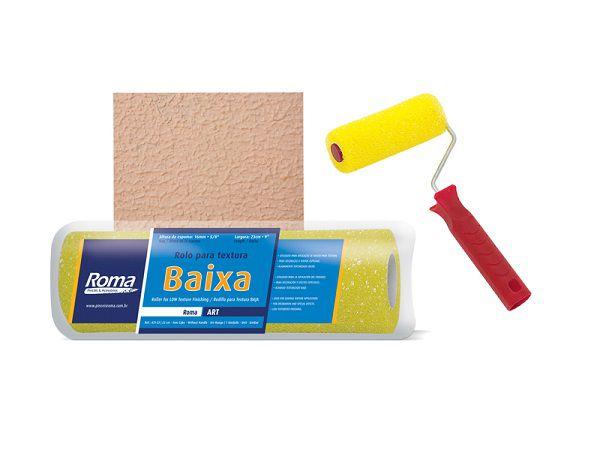 ROLO PINT TEXT BAIXA 09CM C/CABO ROMA REF431