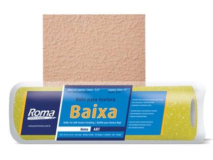 ROLO PINT TEXT BAIXA 23CM S/CABO ROMA REF431