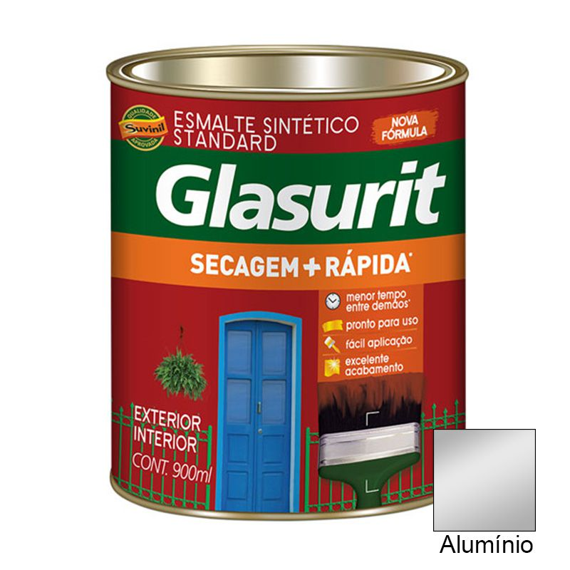 TINTA GLASURIT ESMALTE BRILHANTE ALUMÍNIO 900ML