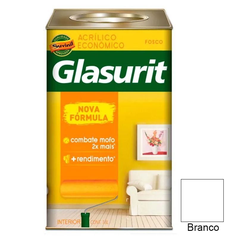 TINTA GLASURIT VINIL ACRÍLICO FOSCO BRANCO NEVE 18L