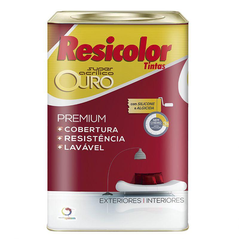 TINTA RESICOLOR ACRÍLICO FOSCO OURO BASE CLARA 18L 9797
