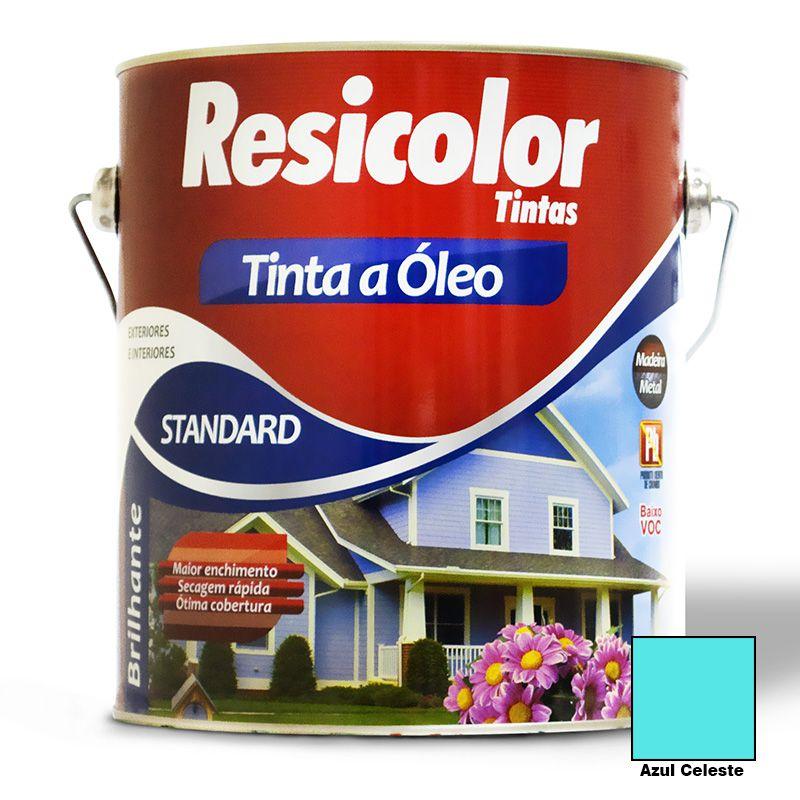 TINTA RESICOLOR ÓLEO BRILHANTE AZUL CELESTE 3,6L