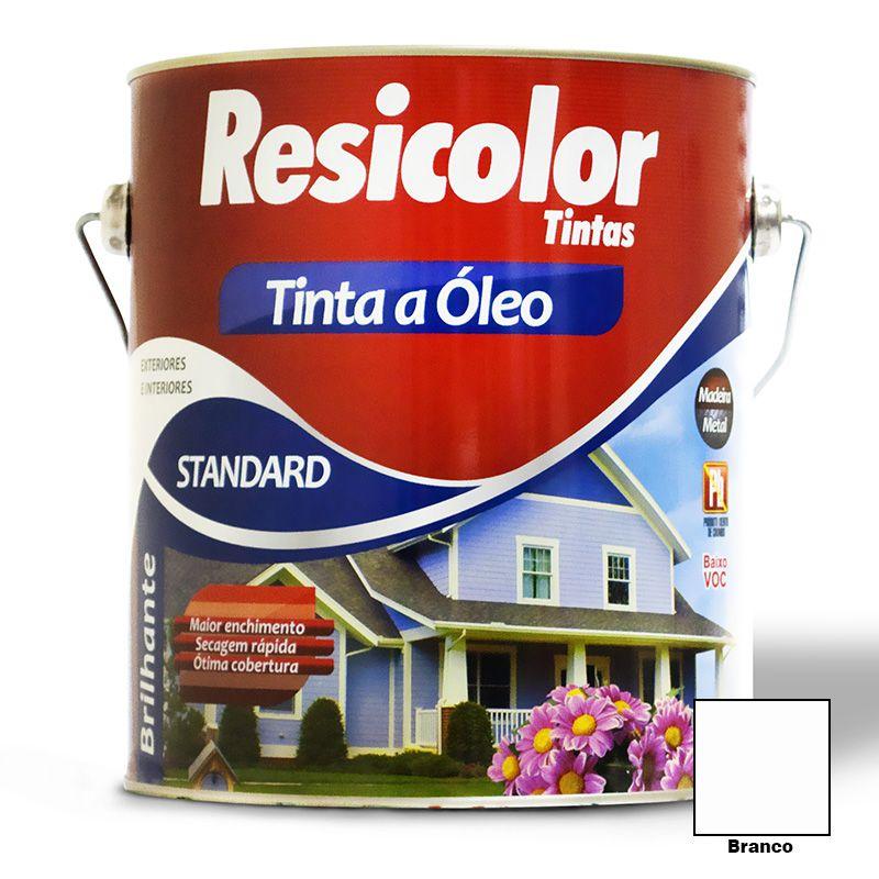 TINTA RESICOLOR ÓLEO BRILHANTE BRANCO 3,6L