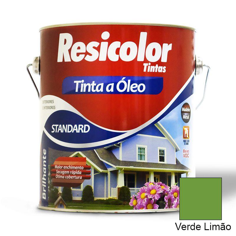 TINTA RESICOLOR ÓLEO BRILHANTE VERDE LIMÃO 3,6L 3377