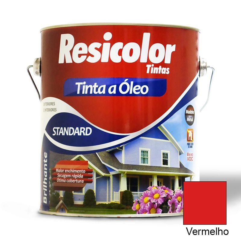 TINTA RESICOLOR ÓLEO BRILHANTE VERMELHO 900ML 4360 T4