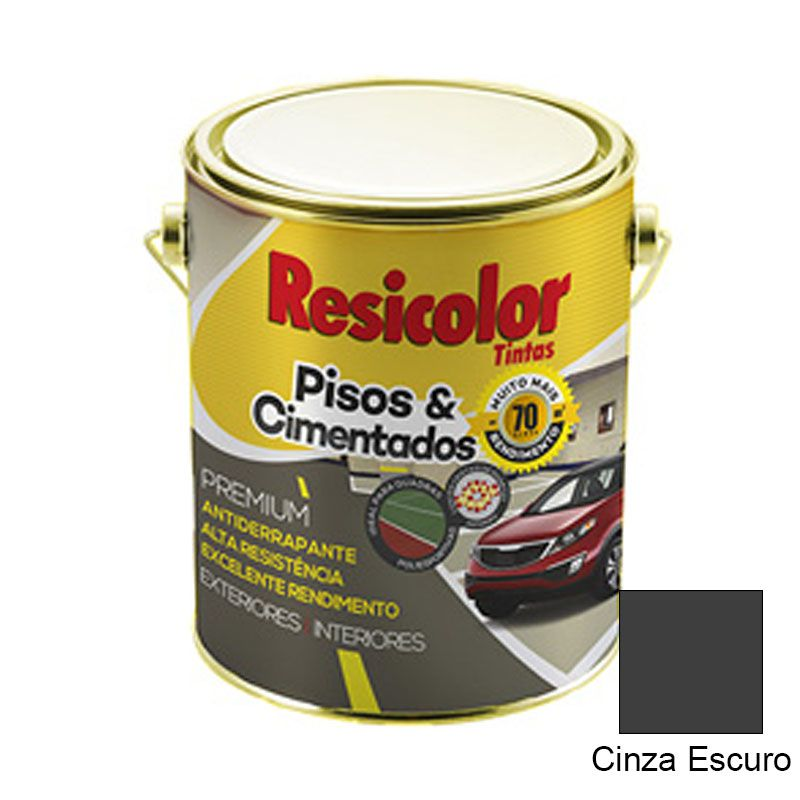 TINTA RESICOLOR PISO CINZA ESCURO 3,6L