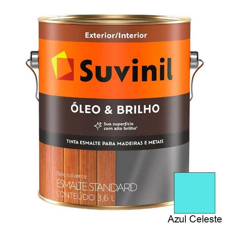 TINTA SUVINIL ÓLEO E BRILHO AZUL CELESTE 3,6L