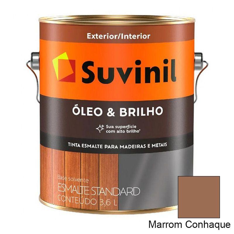 TINTA SUVINIL ÓLEO E BRILHO MARROM CONHAQUE 3,6L