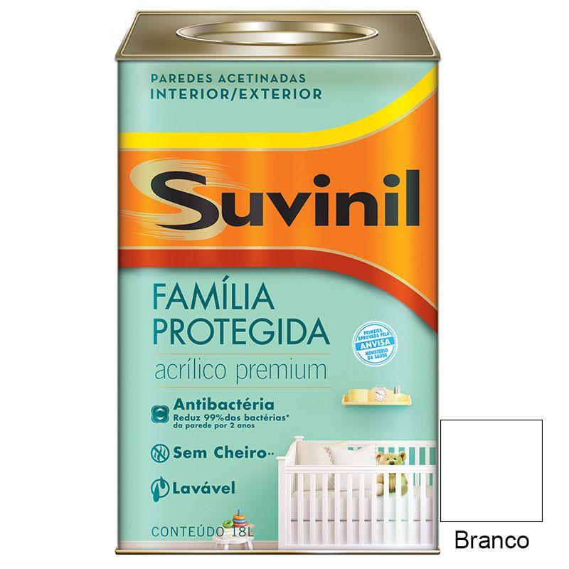 TINTA SUVINIL ACRILICO ACETINADO ANT. BACTERIA BRANCO 18L  5950