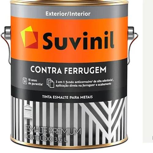 TINTA SUVINIL ESMALTE CONTRA FERRUGEM CINZA ESC. 3,6L 1390