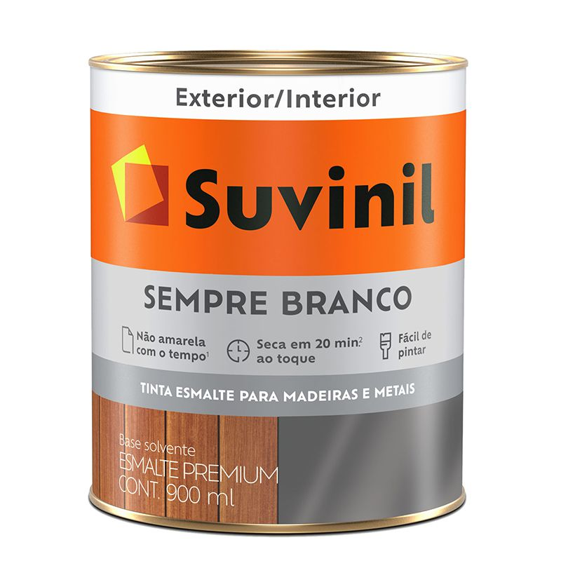 TINTA SUVINIL ESMALTE SINTÉTICO BRILHANTE BRANCO 900ML 5914