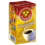 CAFÉ 3 CORAÇÕES TRADICIONAL VÁCUO 500G