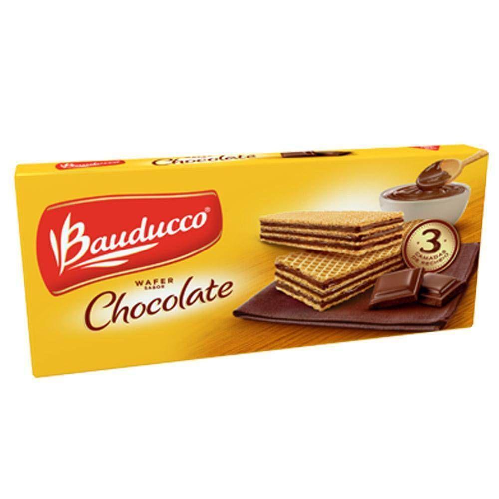 BISCOITO WAFER BAUDUCCO CHOCOLATE 140G