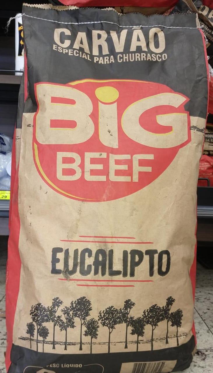 CARVÃO DE EUCALIPITO BIG BEEF 6KG