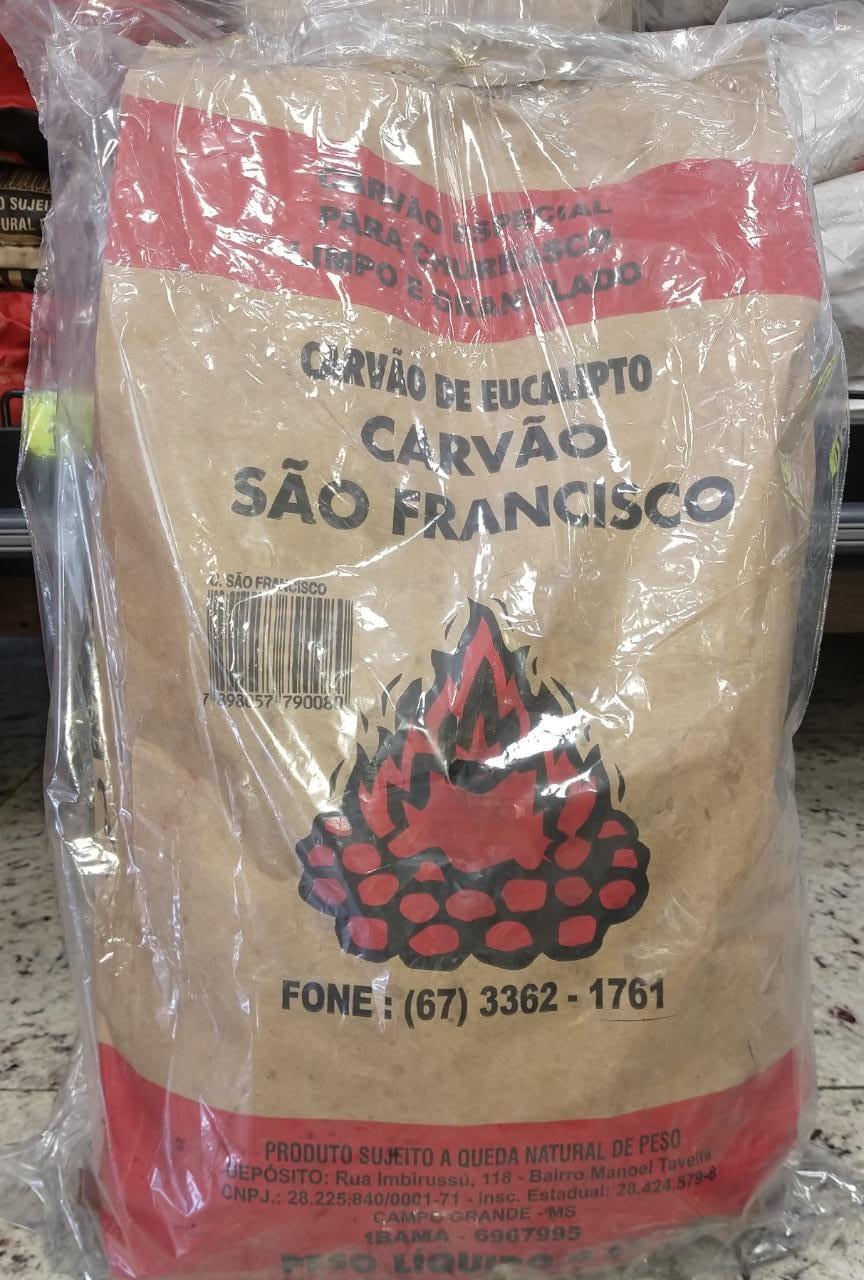 CARVÃO DE EUCALIPITO SÃO FRANCISCO 4KG