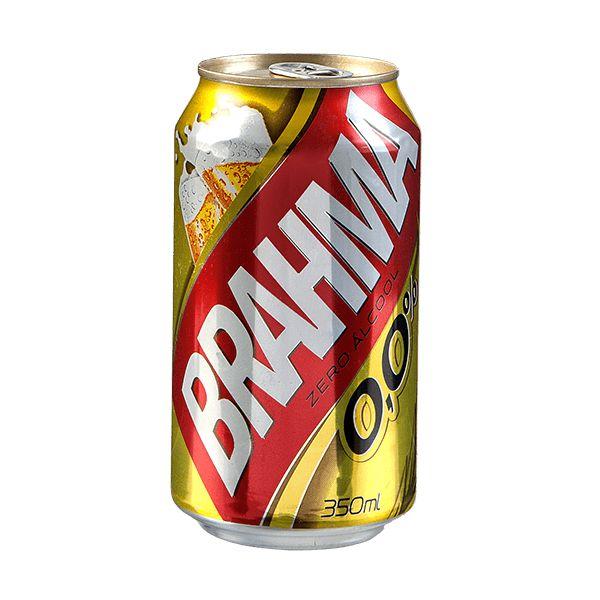 CERVEJA BRAHMA ZERO ALCOOL LATA 350ML