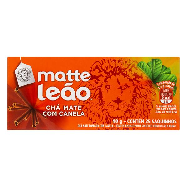 CHA MATTE LEÃO CANELA 40G
