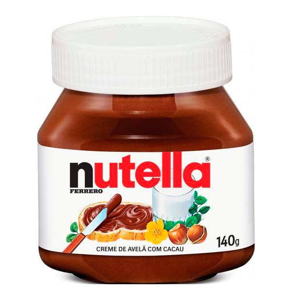 CREME DE AVELÃ COM CACAU NUTELLA 140G