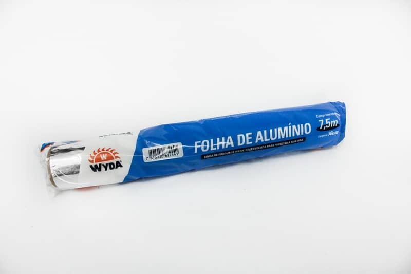 FOLHA DE ALUMÍNIO WYDA 45CM X 7,5M