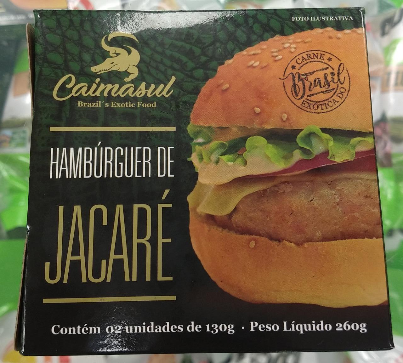 HAMBURGUER DE JACARÉ 180G