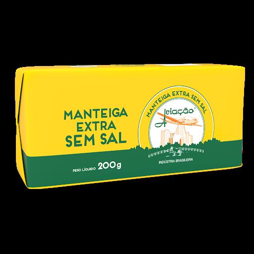 MANTEIGA EXTRA AVIACAO SEM SAL TABLETE 200G