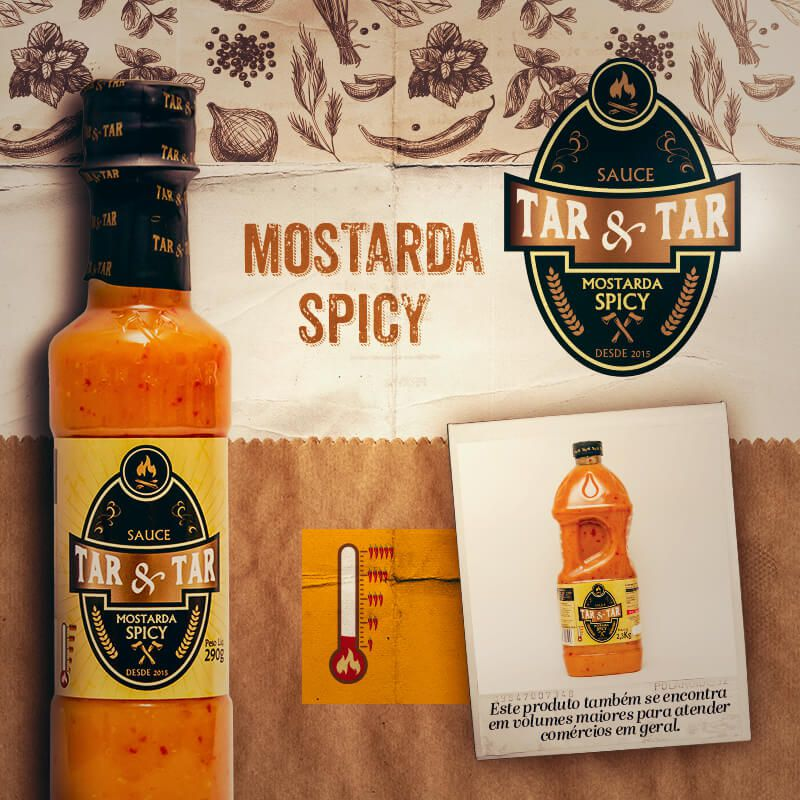 MOSTARDA SPICY TAR  TAR 290G