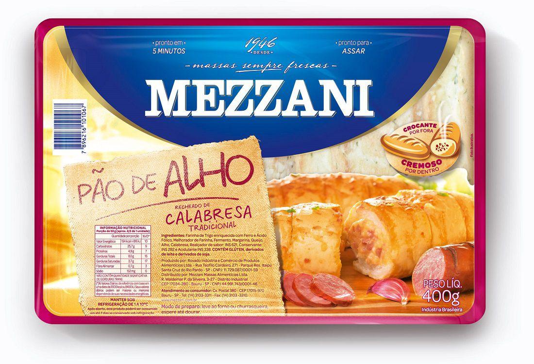 PAO DE ALHO MEZZANI CALABRESA 310G