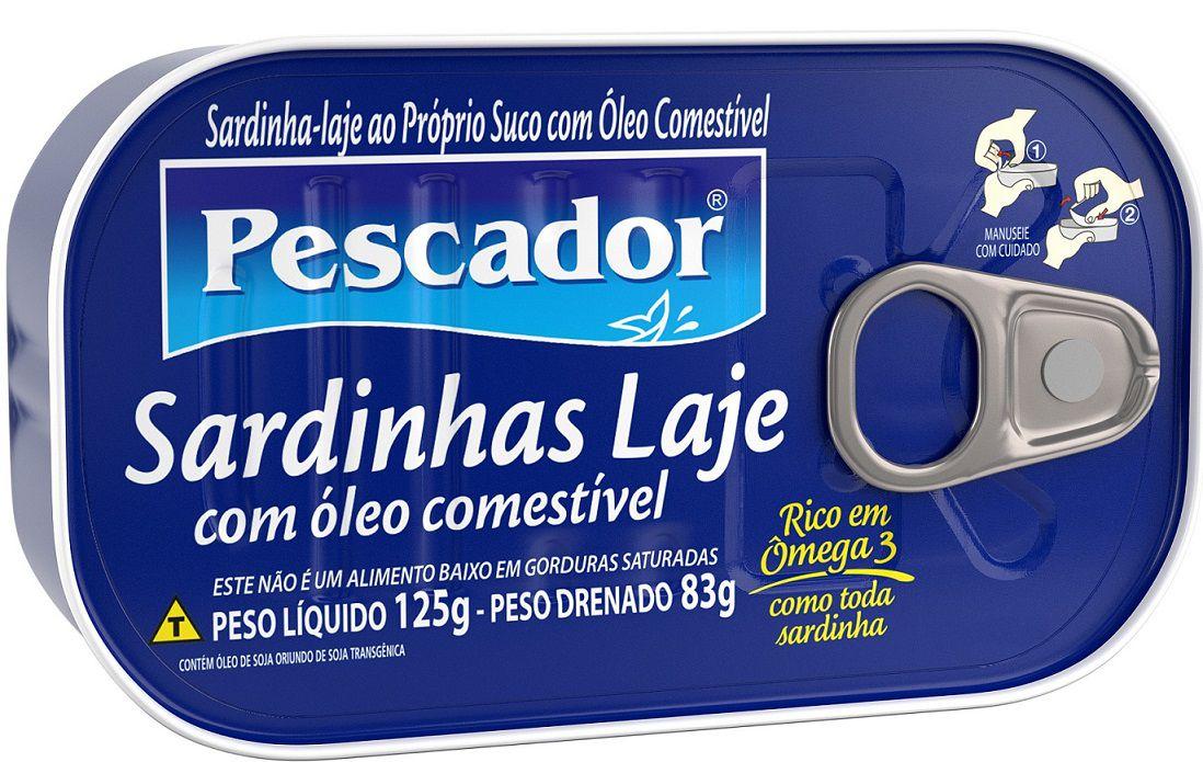 SARD. LAJE PESCADOR OLEO PROPRIO SUCO 125G