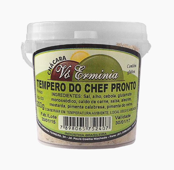 TEMPERO DO CHEF PRONTO STUND UP 200G
