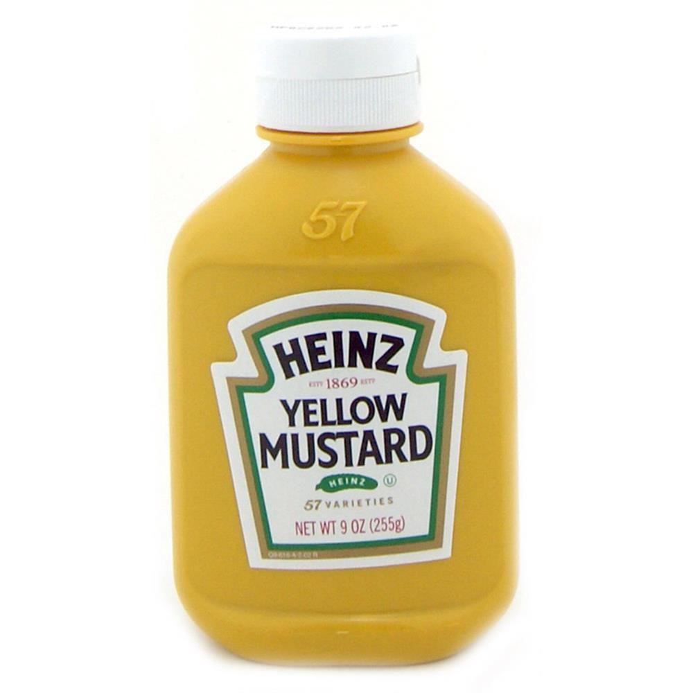 YELLOW MUSTARD HEINZ 255G