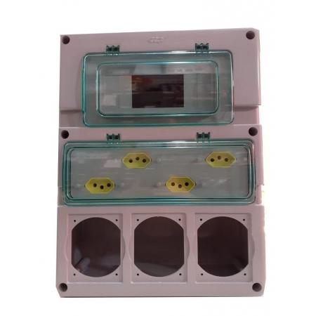 CAIXA INDUSTRIAL C/ TOMADAS 20A 110 X 280 X 360 HJ