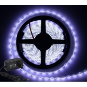 KIT FITA LED 5050 BRANCO FRIO 5M C/ FONTE 60W