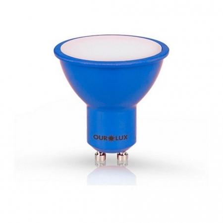 LAMPADA DICROICA LED GU10 4W AZUL MR16