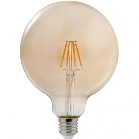 LAMPADA LED FILAMENTO VINTAGE AMBAR GLOBO 4W G125