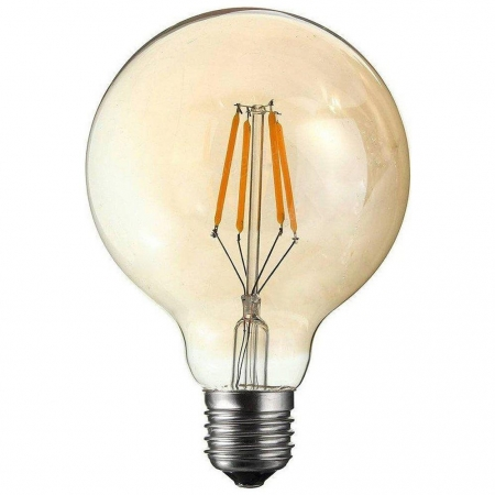 LAMPADA LED FILAMENTO VINTAGE AMBAR GLOBO 4W G95
