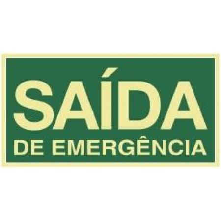 PLACA SAIDA DE EMERGENCIA 15X30 FOTOLUM SINALIZE