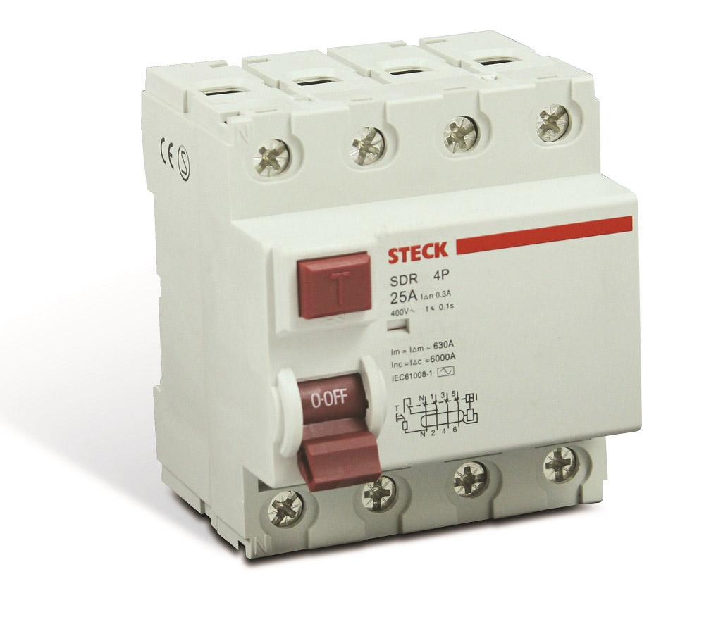 INTER DIFERENCIAL DR 25A 4P STECK