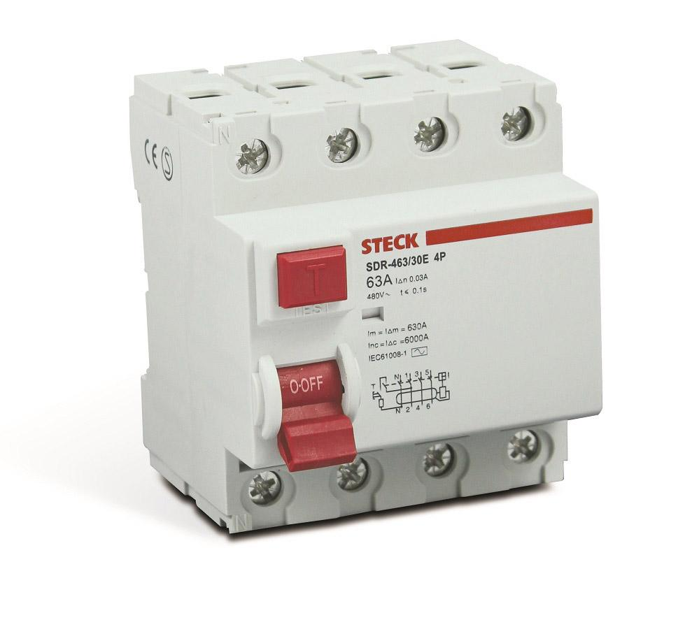 INTER DIFERENCIAL DR 63A 4P STECK