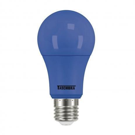 LAMPADA BULBO COLOR LED A60 5W AZUL