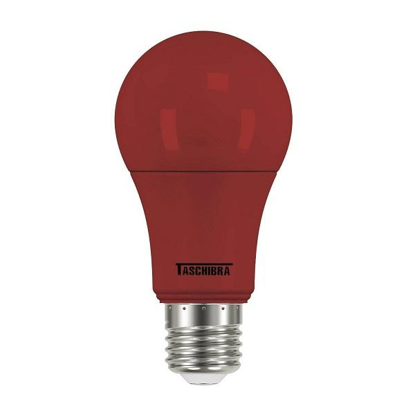 LAMPADA BULBO COLOR LED A60 5W VERMELHA